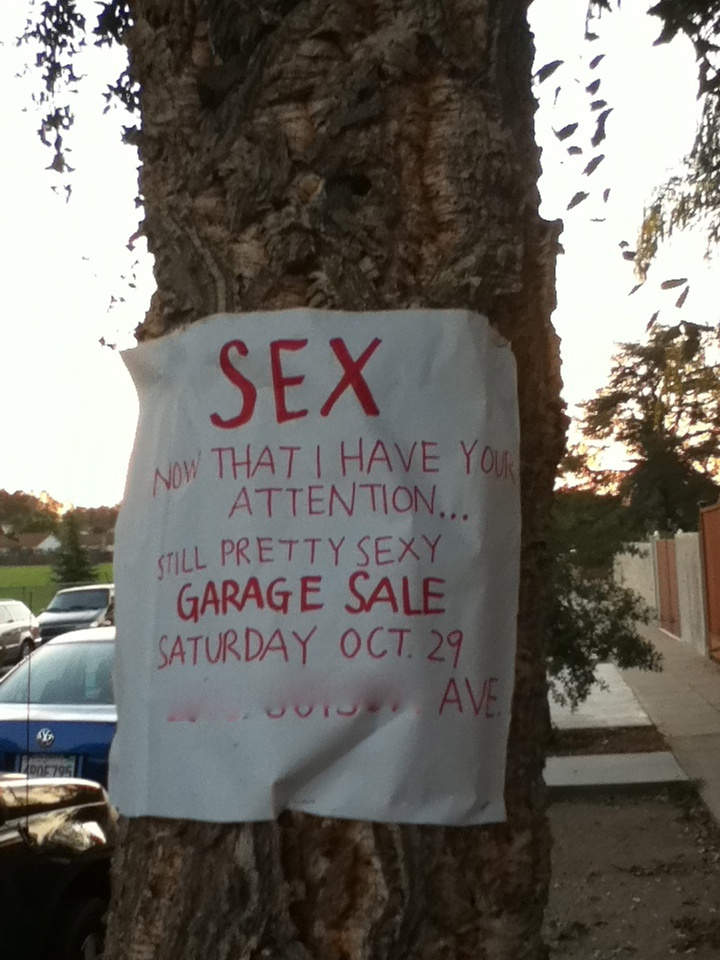 Yard Sale Signs The Good The Bad And The Ugly Garage
